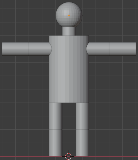 Podstawy Blendera - stickman
