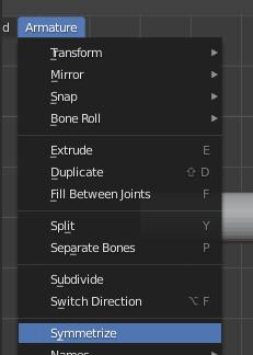 Blender - symetryzacja