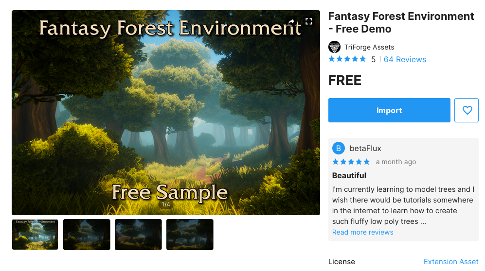 Asset shop - Fantasy Forest Environment