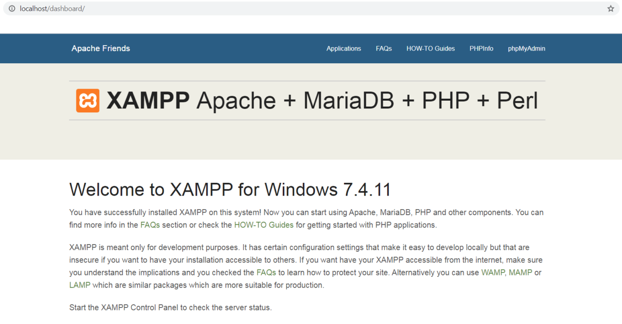XAMPP - localhost
